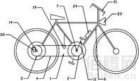 一种压力式无极变速自行车