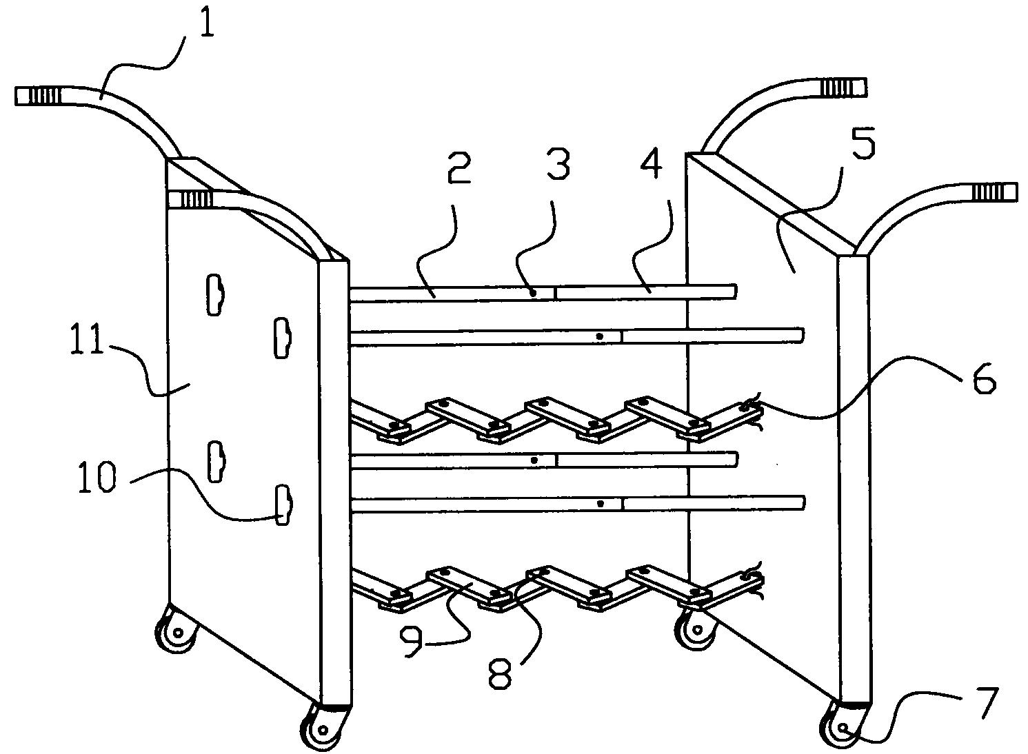 折叠式图书馆运书车