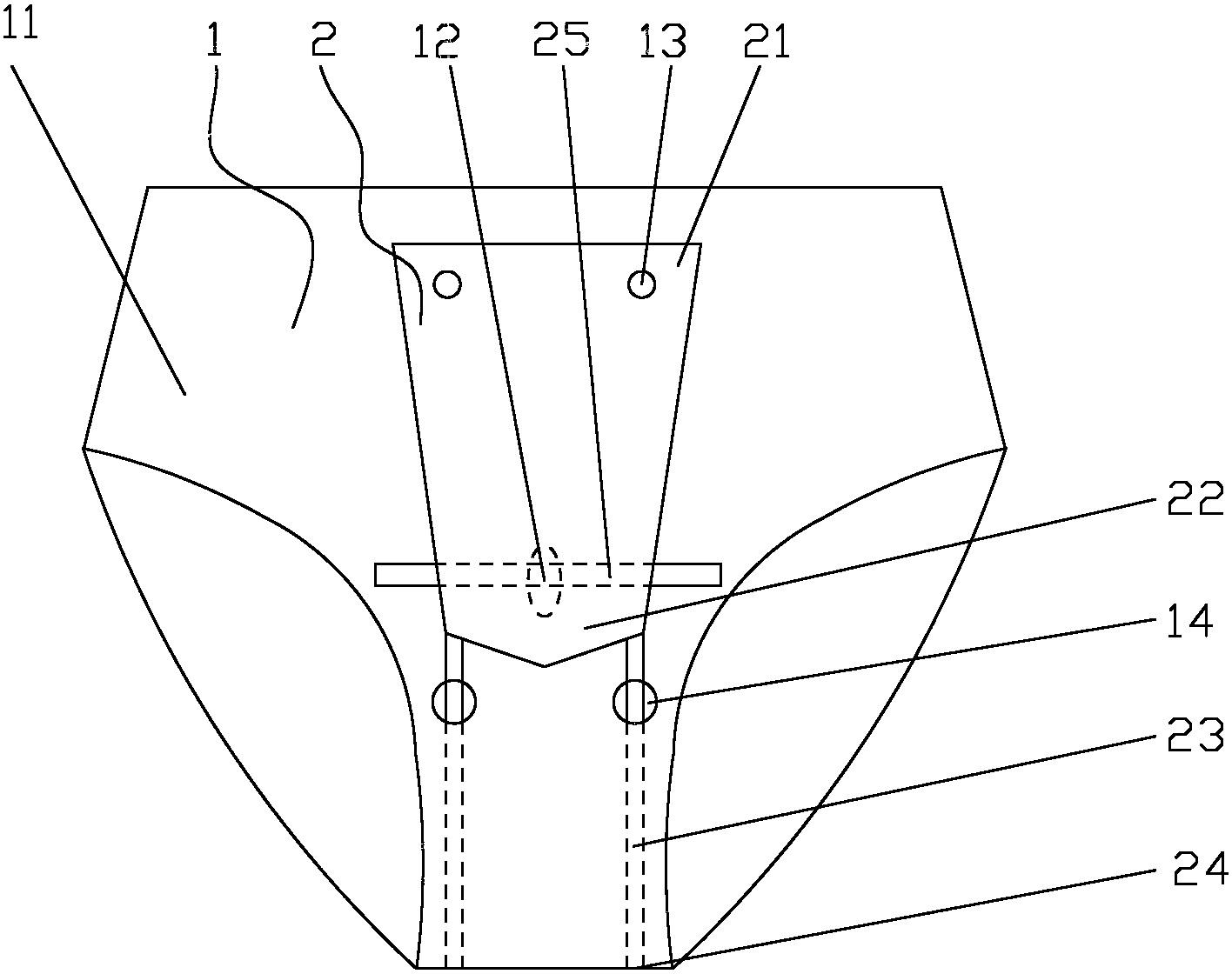 一种带罩式男士内裤(公开号:CN202618286U)