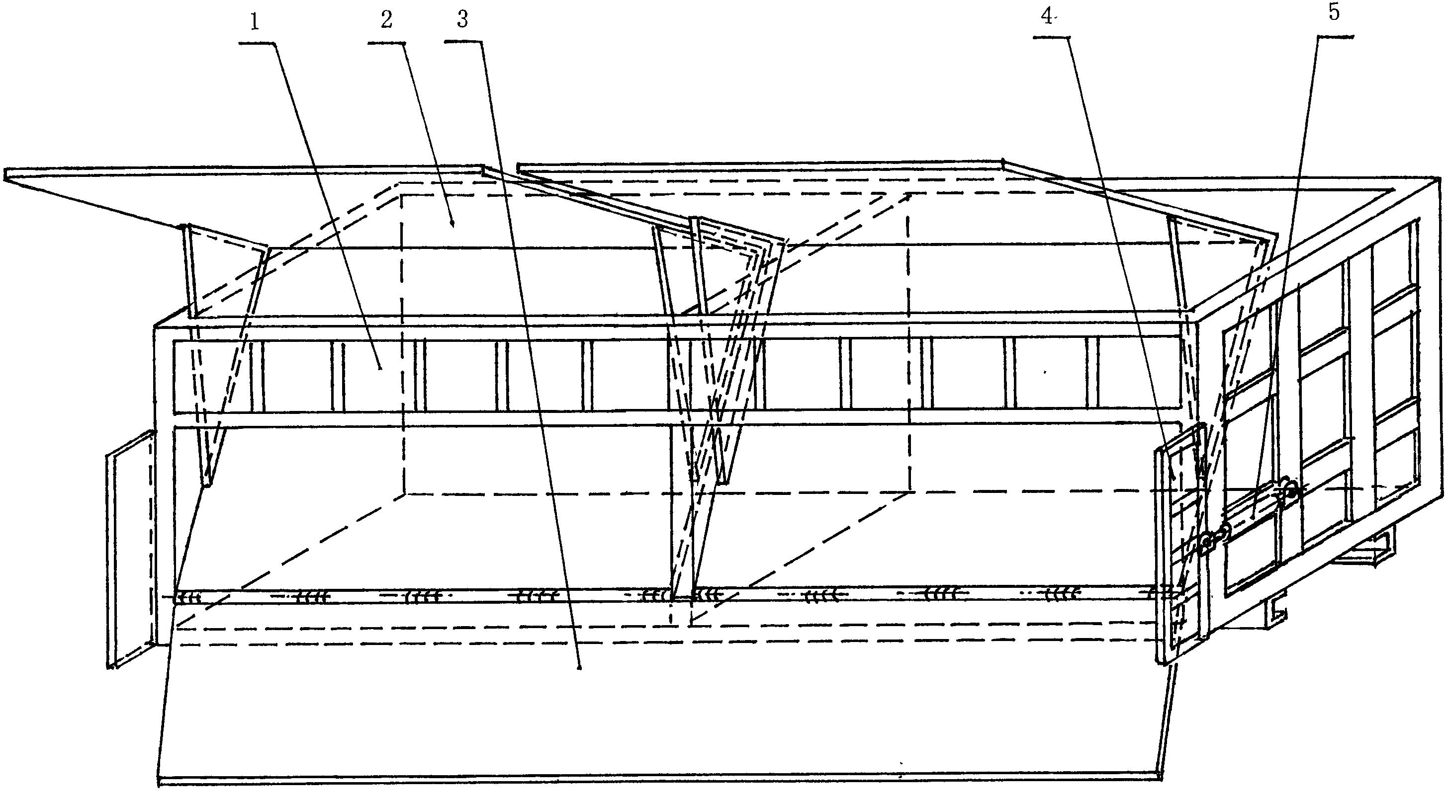 大举升角侧翻自卸车车箱(公开号:CN103386916A)