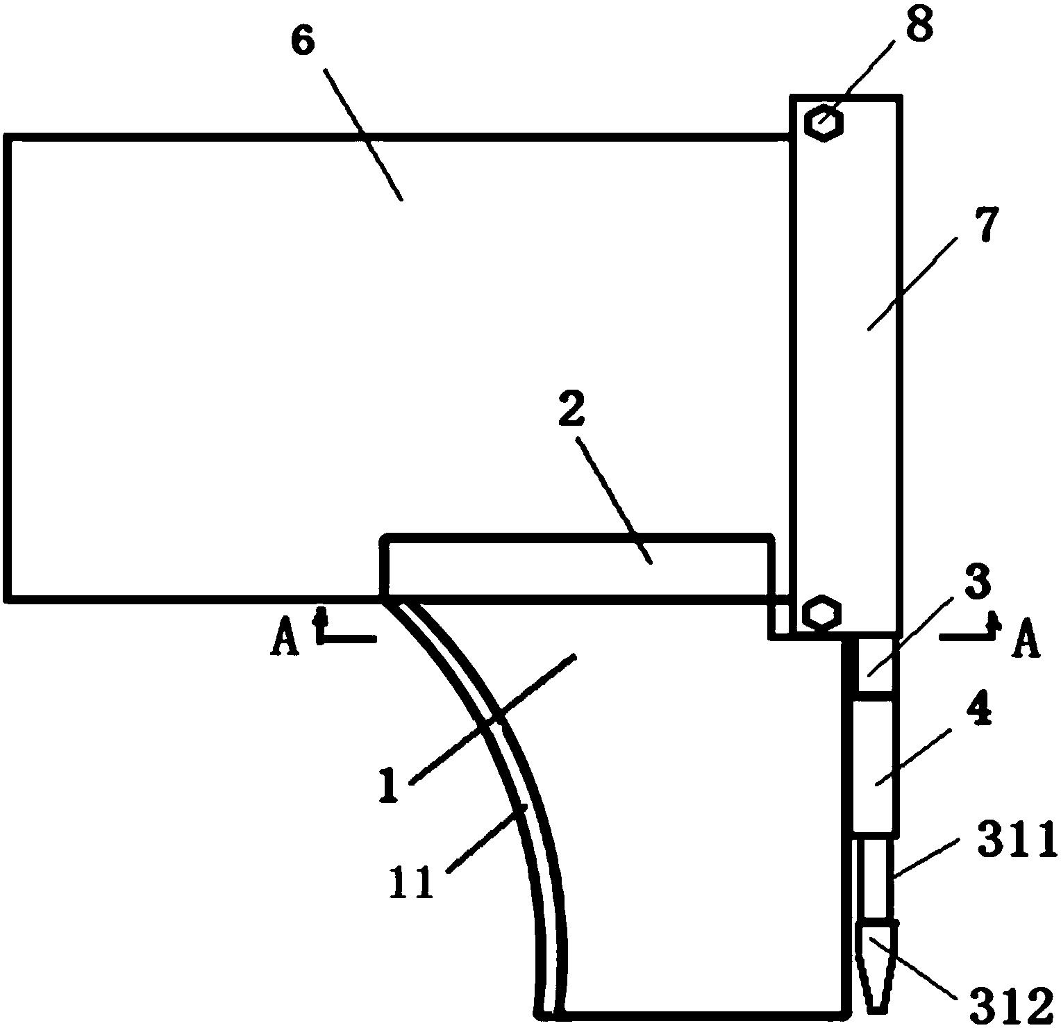 用于桌面扩展的拼接可拆卸转角桌(公开号:CN105901910B)