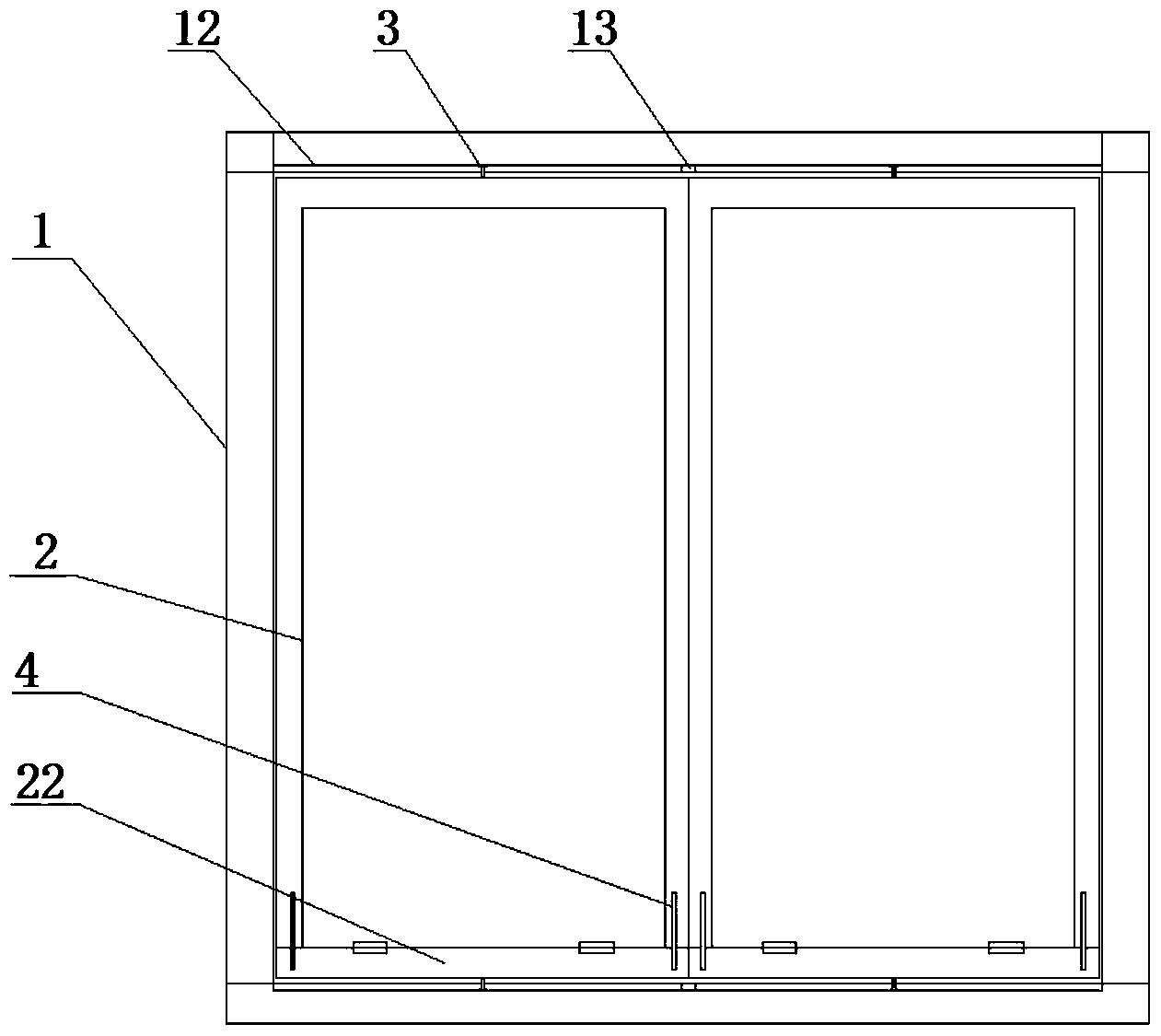 窗户外框、窗玻璃框及翻转式横向推拉窗(公开号:CN105220995B)