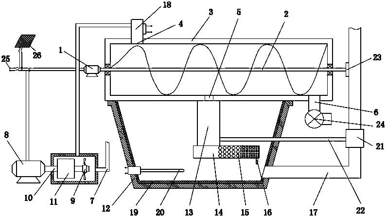 螺杆挤出式水处理一体机(公开号:CN105016547B)