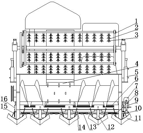 芸豆收割机割台装置(公开号:CN204031844U)