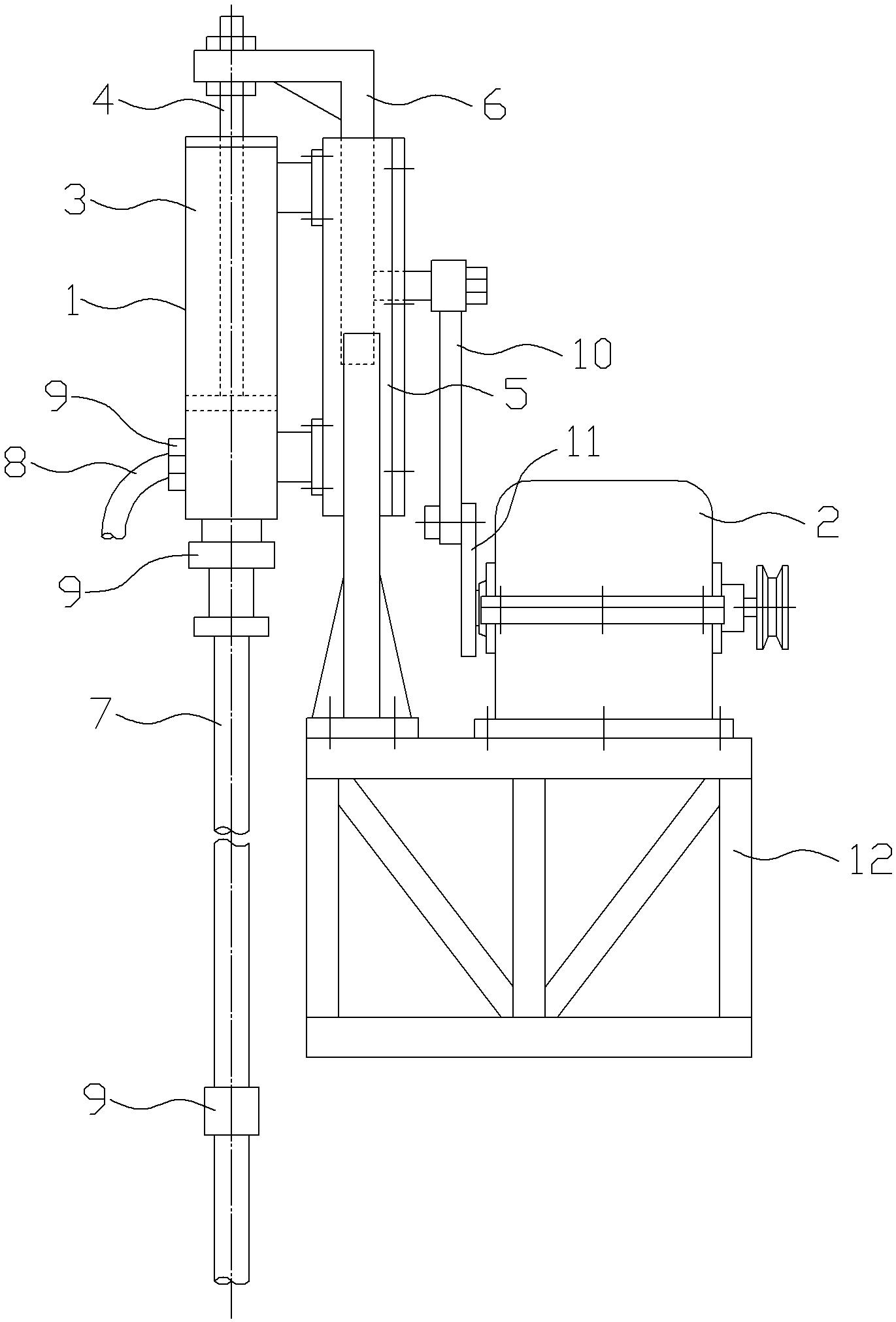 深井抽水机(公开号:CN204646607U)