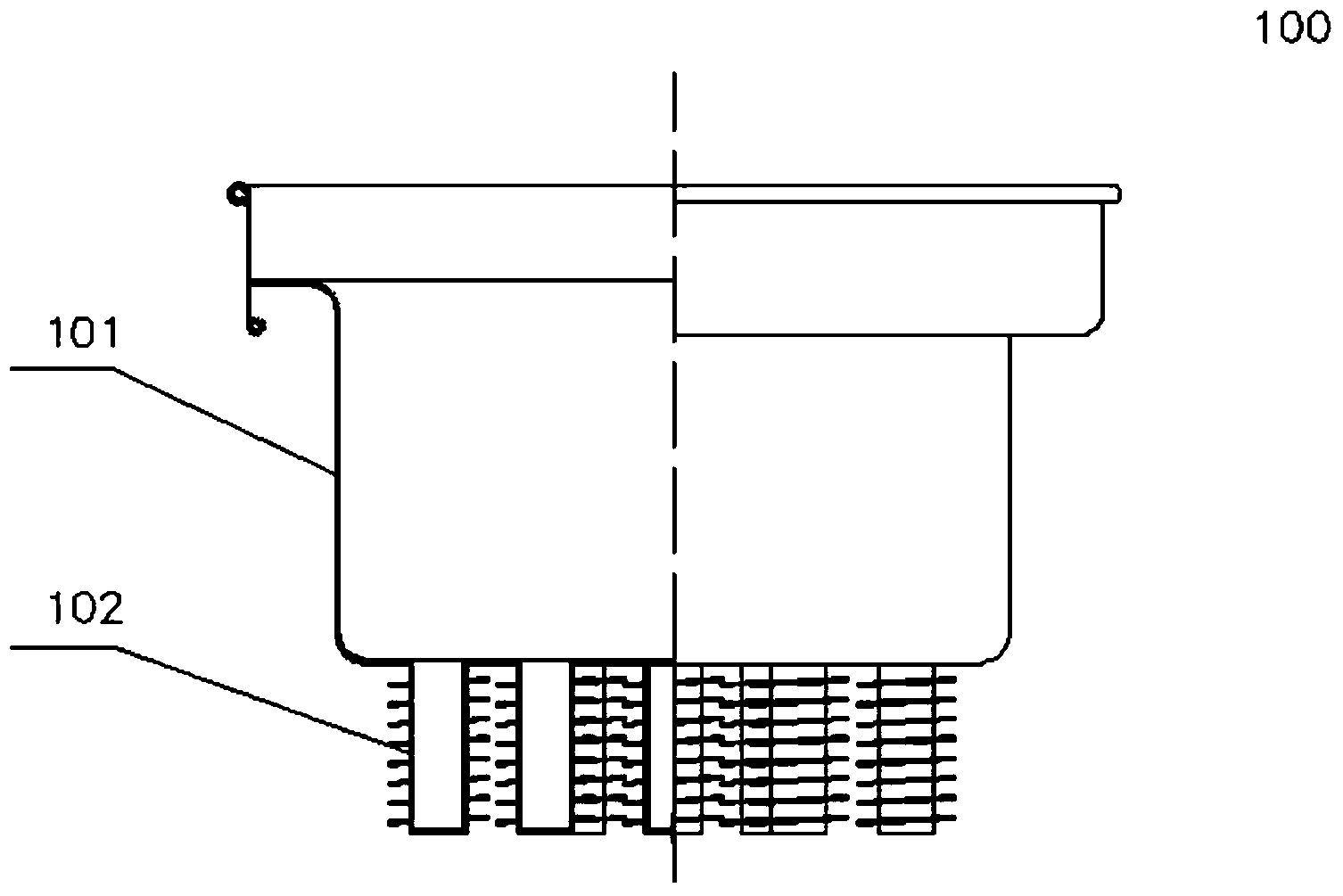 一种商用中餐燃气炒菜灶中烟气余热尾锅的聚能装置