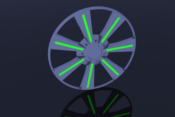 一种汽车轮毂的自由动感飞轮
