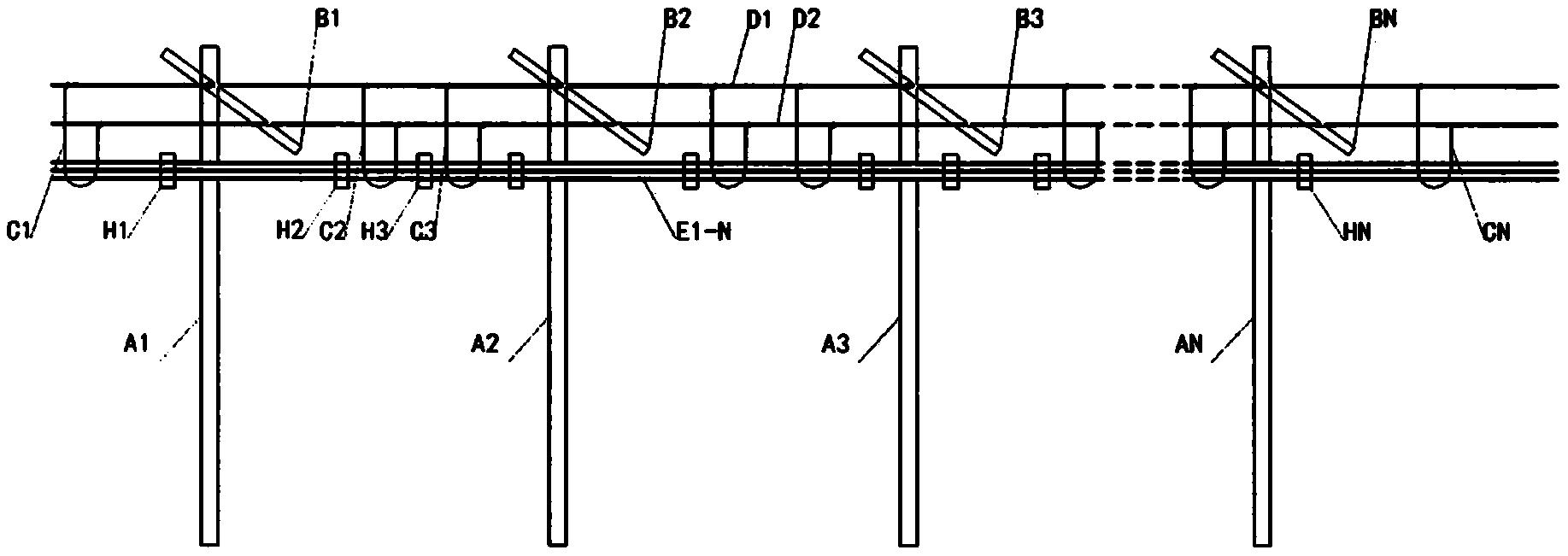 一种城区架空光缆软体线槽