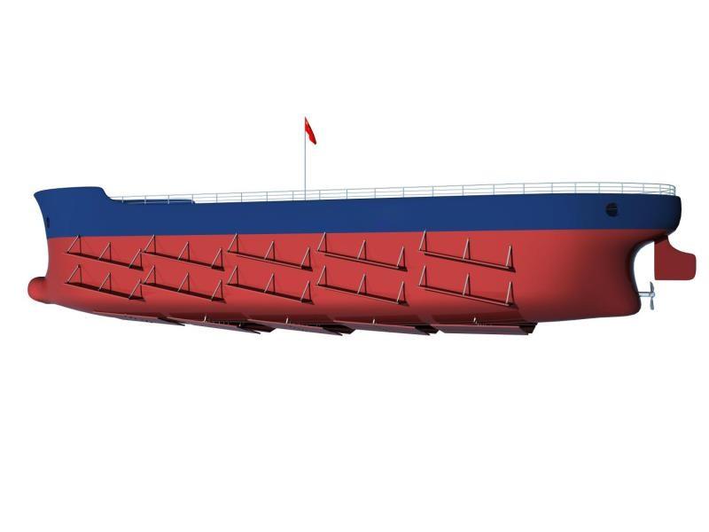 一种舰船自动力加速装置