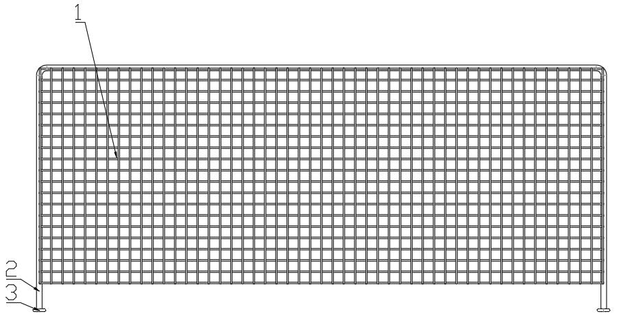 一種油炸鍋用隔網