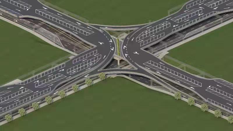 一种由高架组成的城市新型交通结构