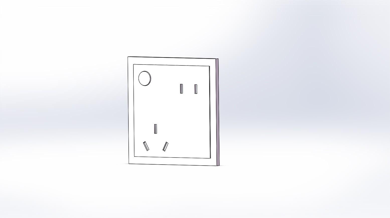 一种弹出式墙壁内嵌插座