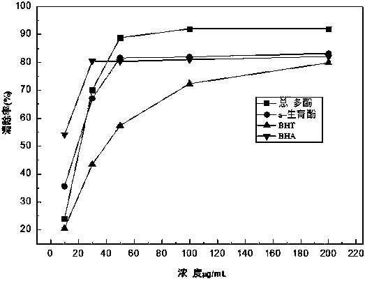 一种异叶青兰总多酚的制备方法及其应用