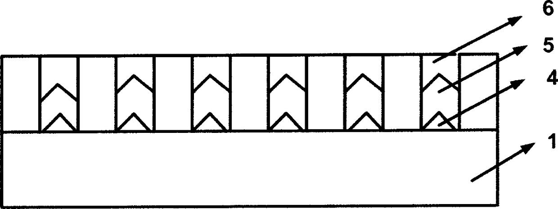 倒V型二氧化硅沟槽结构生长硅基砷化镓材料的方法