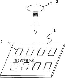 基于光传感器的盲文计算机点字输入系统和方法